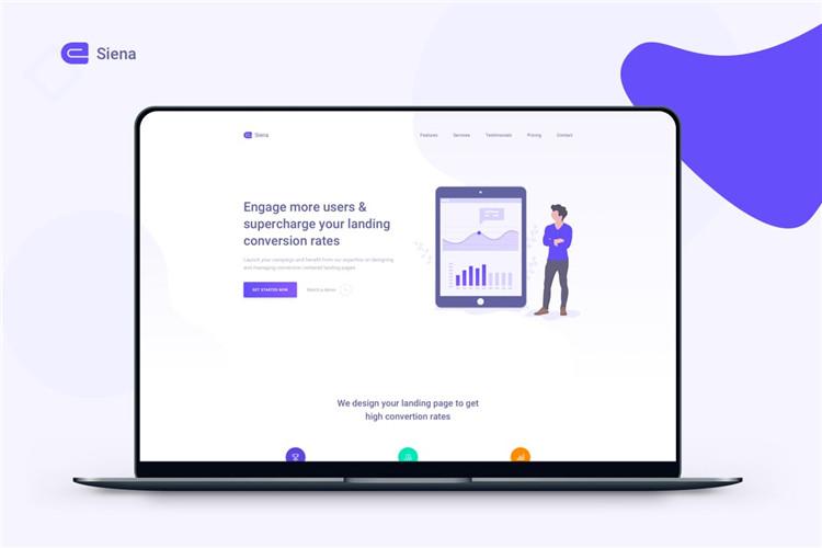市场营销网站登陆页面Bootstrap模板