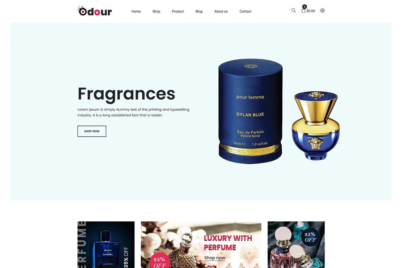 香水化妆品店shopify主题Odour