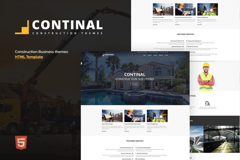 建筑业务公司官网HTML5模板Bootstrap框架