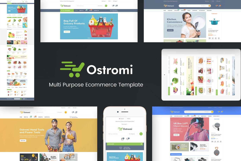 数字,高科技商店OpenCart主题模板Ostromi