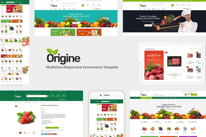 有机食品商店Opencart主题模板Origine