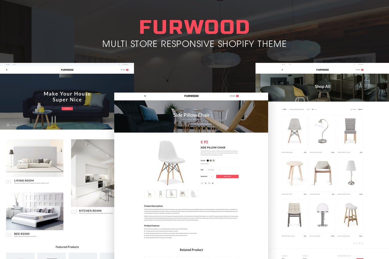 shopify主题模板自建站模板furwood