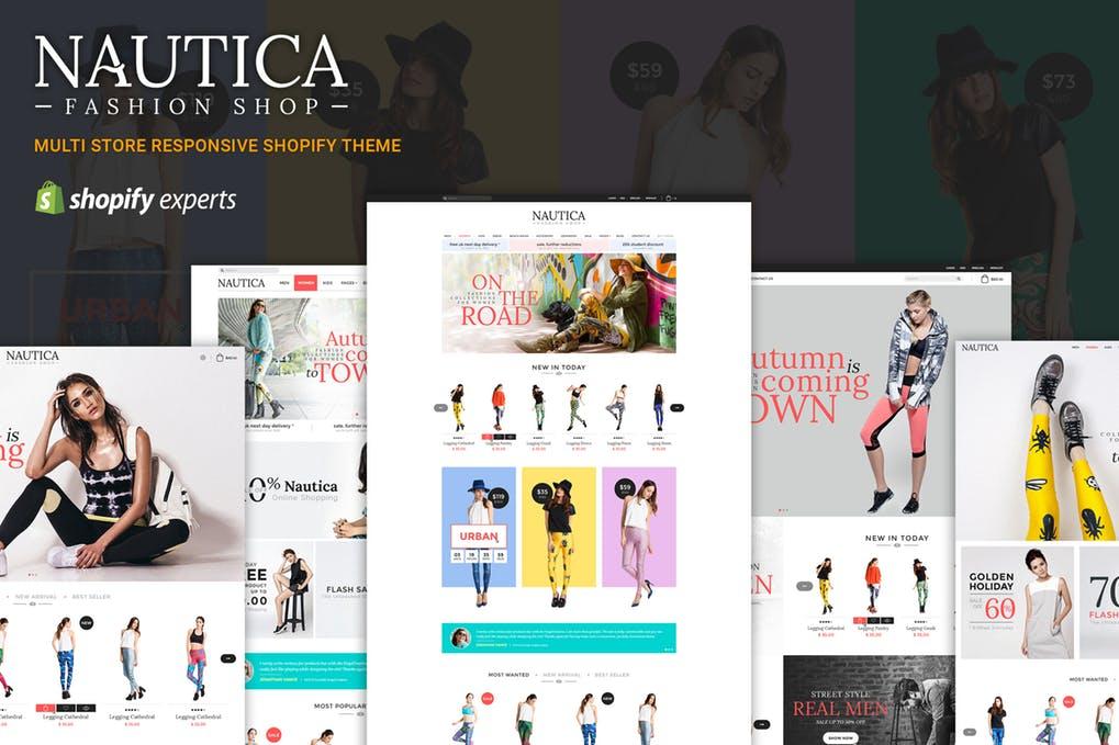 多种风格商店响应式Shopify主题Nautica