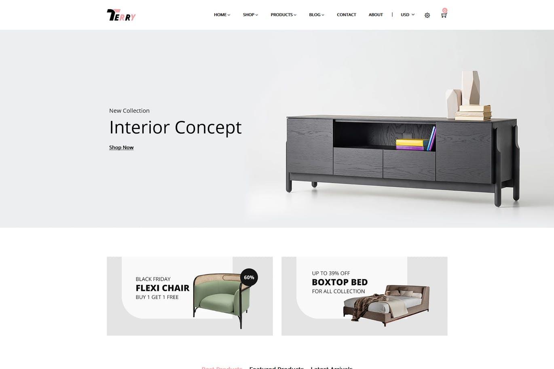 家具设备商店Shopify主题terry