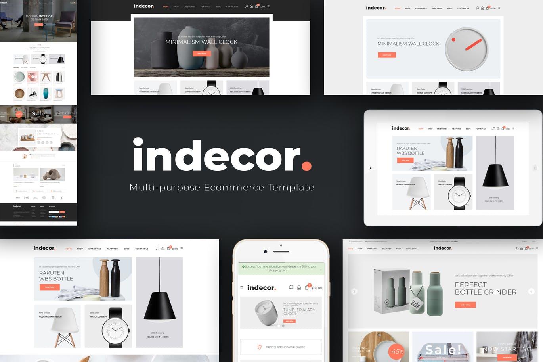 简洁家具Opencart主题模板Indecor