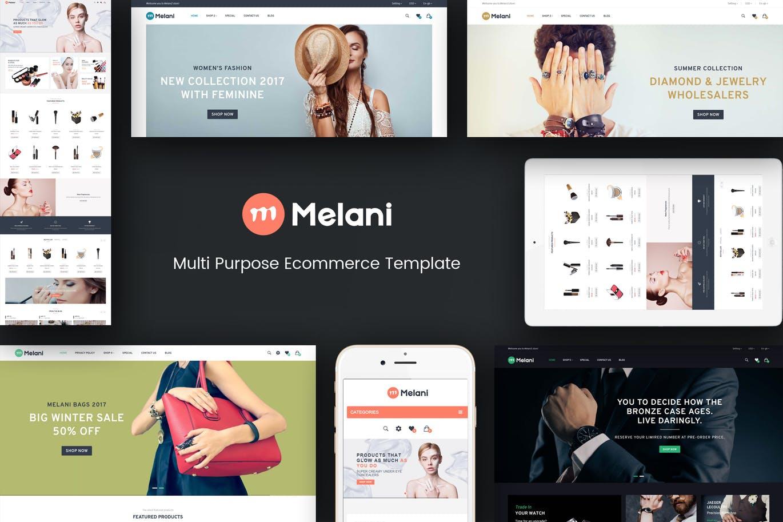 时装店饰品店响应式Opencart主题Melani