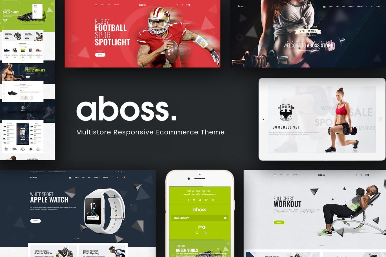 健身房运动健身器械商城OpenCart模板Aboss