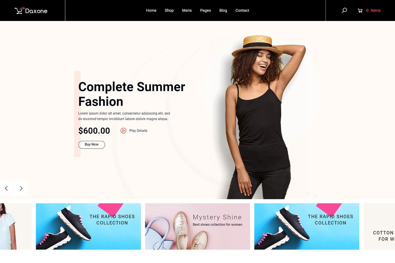 时装服装Shopify主题Daxone