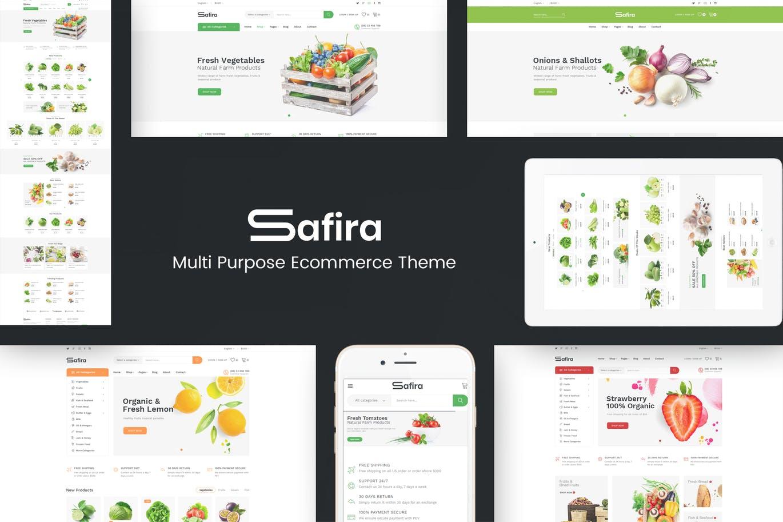 有机食品Prestashop主题模板safira