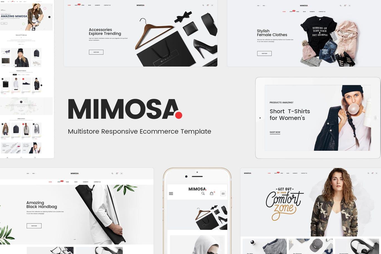 响应式时尚Opencart 3主题mimosa