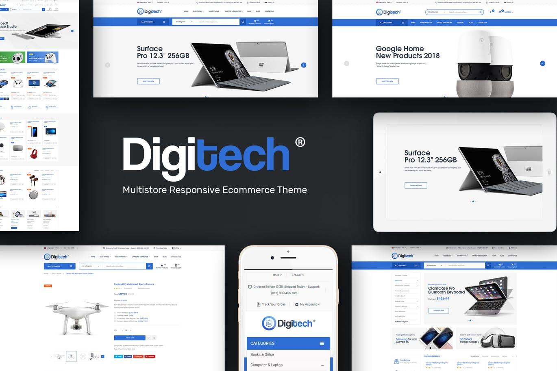 电脑设备科技产品Opencart 3.x主题digitech