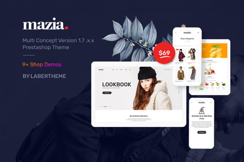 Mazia响应式Prestashop 1.7主题模板下载