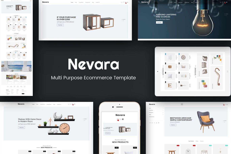 家具室内装饰品Opencart 3主题模板Nevara