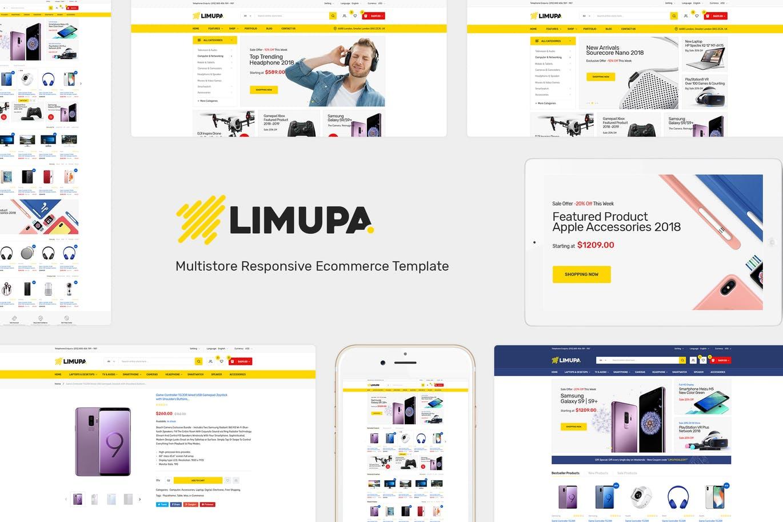 电子产品数码设备OpenCart主题模板Limupa