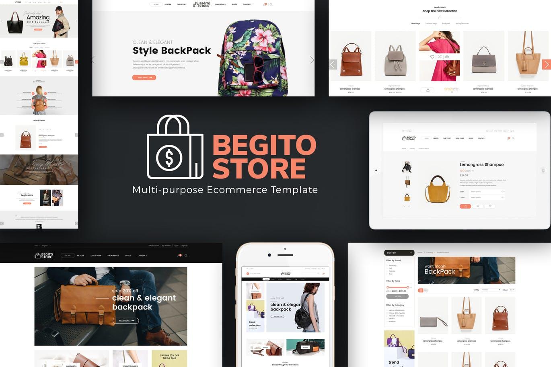 包包风格响应式Opencart 3.x主题Begito