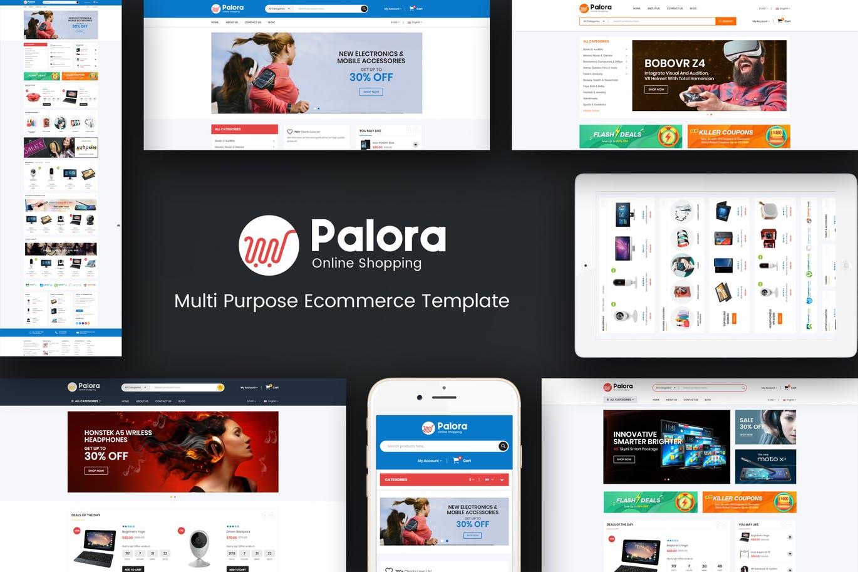响应式OpenCart主题模板Palora