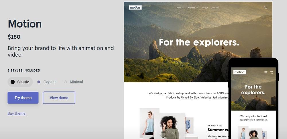 【官方正版】shopify官方主题模板Motion