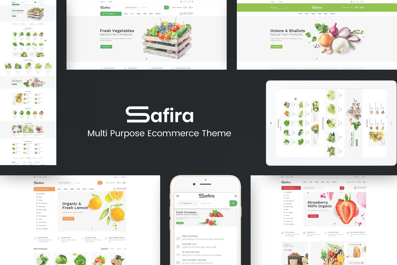响应式OpenCart主题模板下载Safira