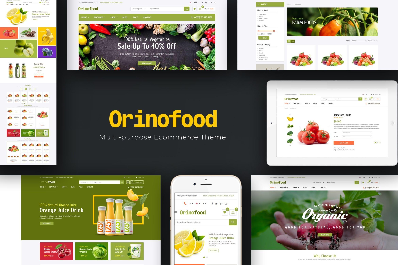 有机食品Opencart主题模板Orinofood