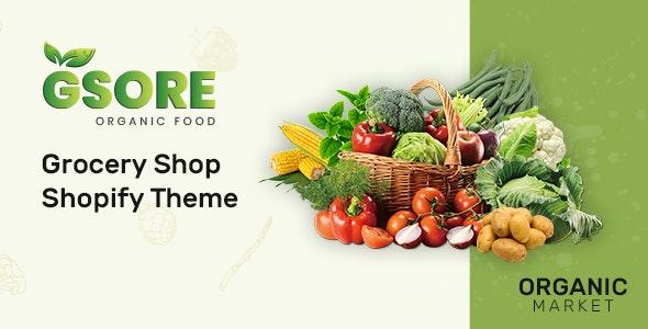 绿色有机食品商店Shopify主题Gsore