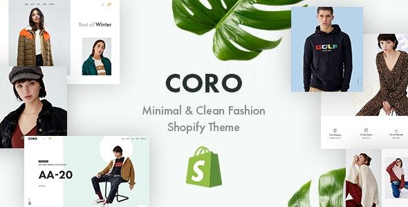 时尚简约服装SHOPIFY主题模板CORO