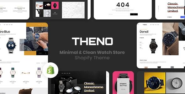 手表商店Shopify主题模板THENO
