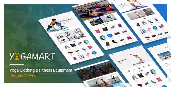 瑜伽服和健身器材SHOPIFY主题YogaMart