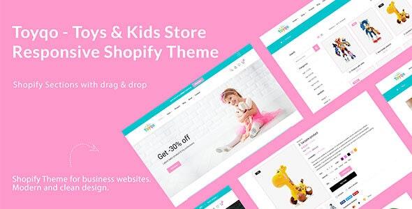 儿童玩具商店响应式SHOPIFY主题Toyqo