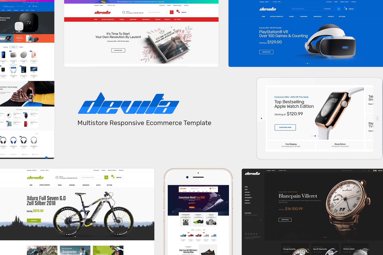 手表自行车数码风格响应式Opencart主题Devita