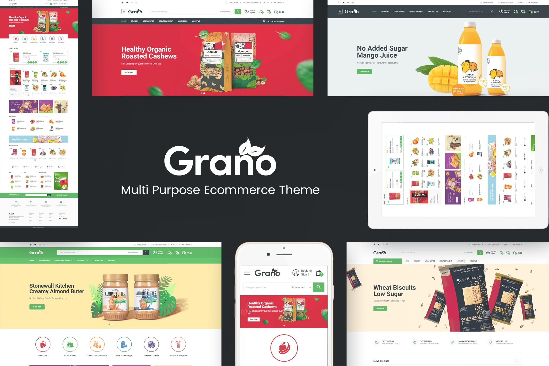有机食品响应式Prestashop主题Grano