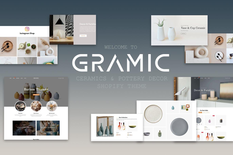 中国陶瓷工艺品装饰风格Shopify主题Gramic
