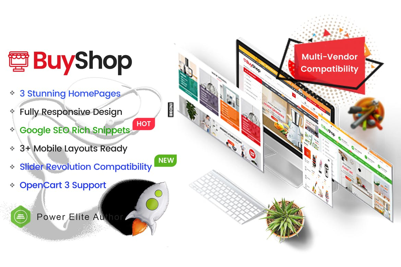 移动布局响应式多功能OpenCart 3主题模板BuyShop