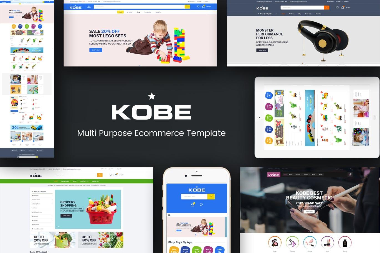 四个主页风格响应式Magento主题模板Kobe
