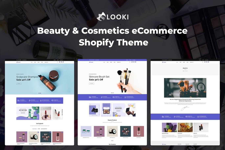 美容化妆品电子商务 Shopify 主题模板Looki